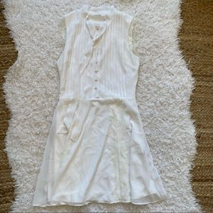 TULAROSA White Lace Detail Dress Small